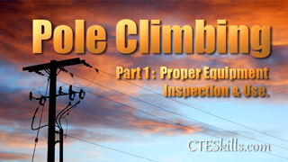 ULT - Pole Climbing Part 1 - Proper Eqp. Inspection, Use